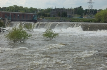 freshet at the dam