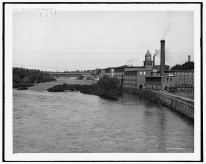 Merrimack River and Mills Looking Toward the Falls- LOC