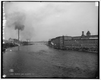 Merrimack River with Mills- LOC