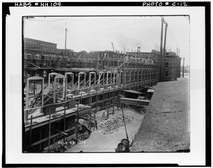 LOC 1899 construction in millyard