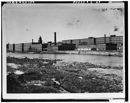 LOC Jefferson Mill from west side of river 1900